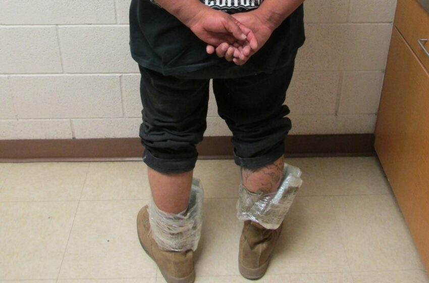 CBP Officers stop man with Fentanyl strapped to ankles