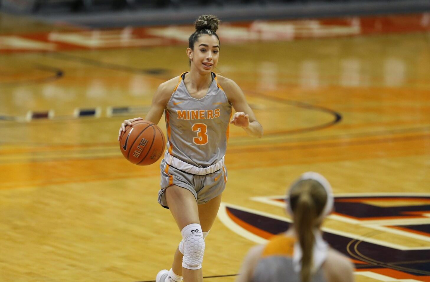 UTEP Sophomore Guard Katia Gallegos | Photo by Michael Reese