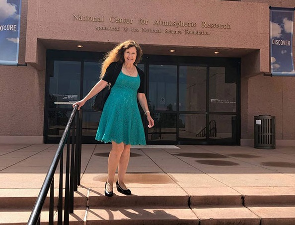 The University of Texas at El Paso recently was selected as a member of the prestigious University Corporation for Atmospheric Research (UCAR). UCAR is a nonprofit consortium of 120 North American colleges and universities focused on research and training in the atmospheric and related Earth system sciences. Physics Professor Rosa Fitzgerald, Ph.D., pictured, was instrumental in making the University's case for membership. Photo courtesy UTEP