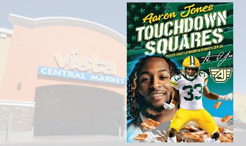 Aaron Jones' cereal scores a touchdown at El Paso-area Vista Markets