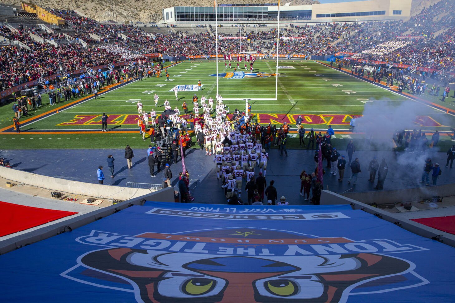 The Tony the Tiger Sun Bowl is the second oldest bowl game in the business with the first Sun Bowl game being played at El Paso High School's Jones Stadium, with the El Paso All-Stars defeating Ranger 25-21. 2003 Legend of the Sun Bowl Ken Heineman accounted for every El Paso All-Star point. Photo by Ivan Pierre Aguirre/Sun Bowl Association