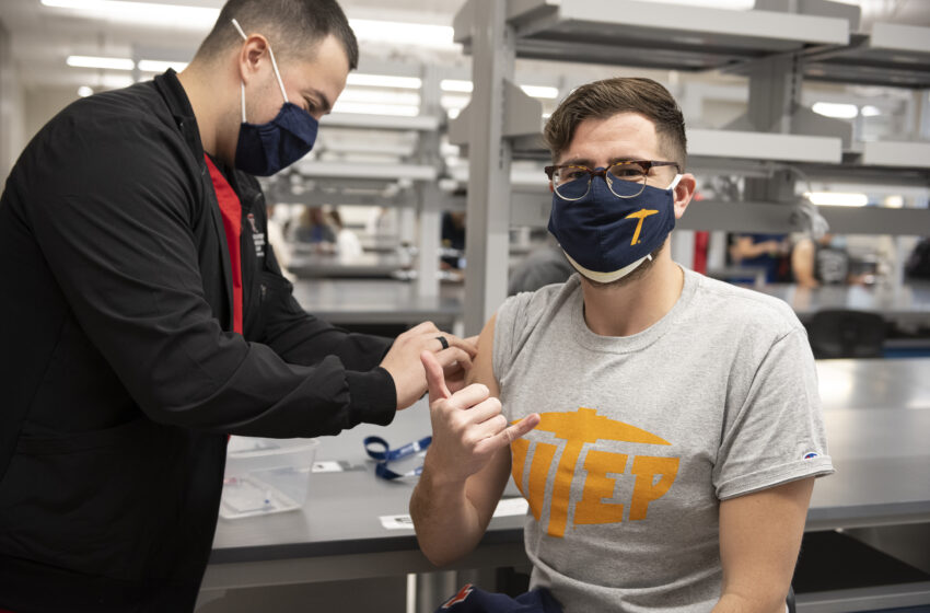 UTEP Frontline Workers immunized via TTUHSC El Paso's COVID-19 Vaccination Program