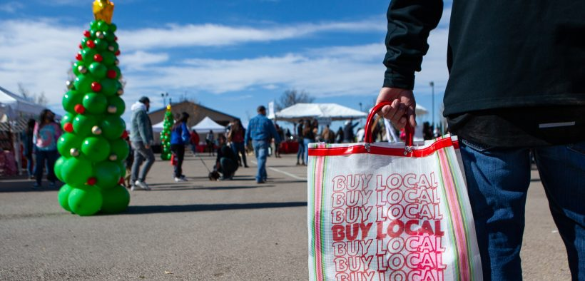 Many local small businesses are depending on revenue from holiday shopping this month to offset losses during the pandemic. (Corrie Boudreaux/El Paso Matters)