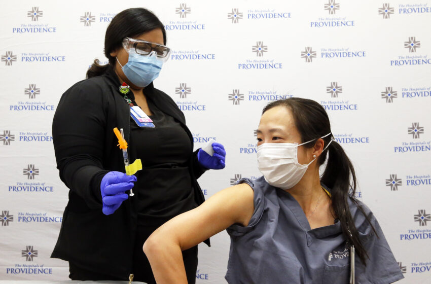 Video+Gallery: Hospitals of Providence begin Covid-19 vaccinations for healthcare staff