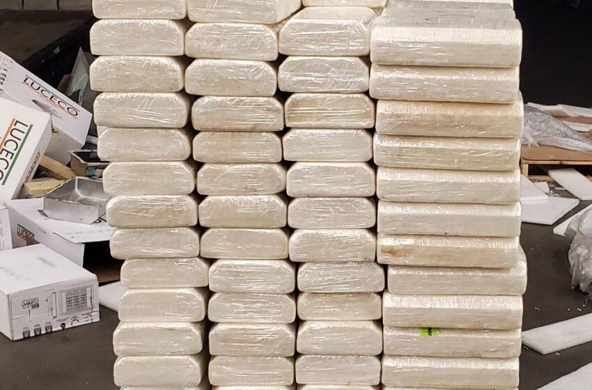 CBP Officers nab 2,570 pounds of Meth hidden among Lighting Fixtures