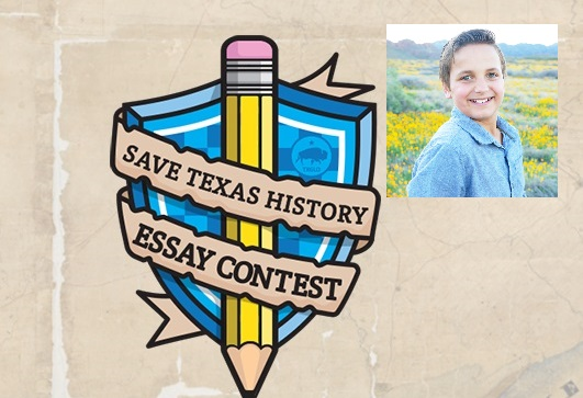 El Paso 7th grader Stone Jessup named finalist in 2020 Save Texas History Essay Contest