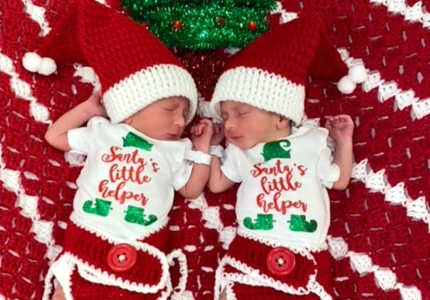 Hospitals of Providence newborn babies spread holiday cheer