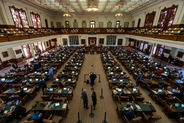 The two chambers have not always been so closely aligned when proposing budgets at the start of legislative sessions — in 2019, for example, there was a $3 billion difference in public education funding proposals. In 2017, they were nearly $8 billion apart. Credit: Jordan Vonderhaar for The Texas Tribune