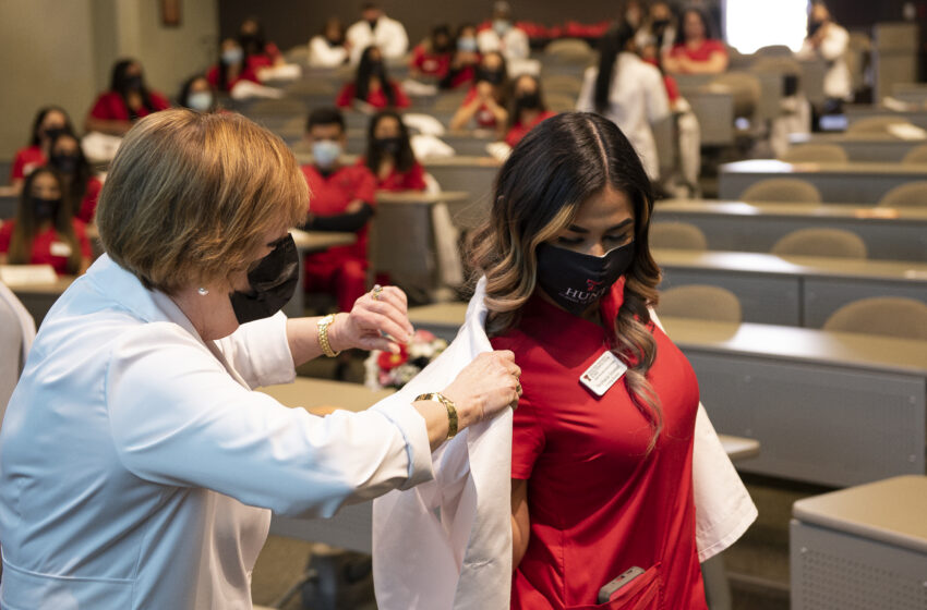 Hunt School of Nursing Class of 2022 presented with White Coats