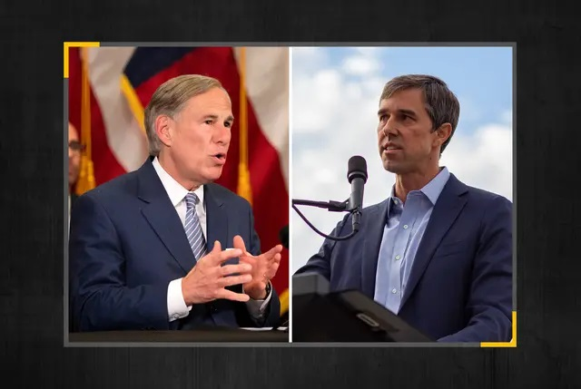 Gov. Greg Abbott, left, and former U.S. Rep. Beto O'Rourke, D-El Paso. The two traded criticisms Thursday as speculation mounts over whether O'Rourke will challenge Abbott in 2022. Credit: The Texas Tribune