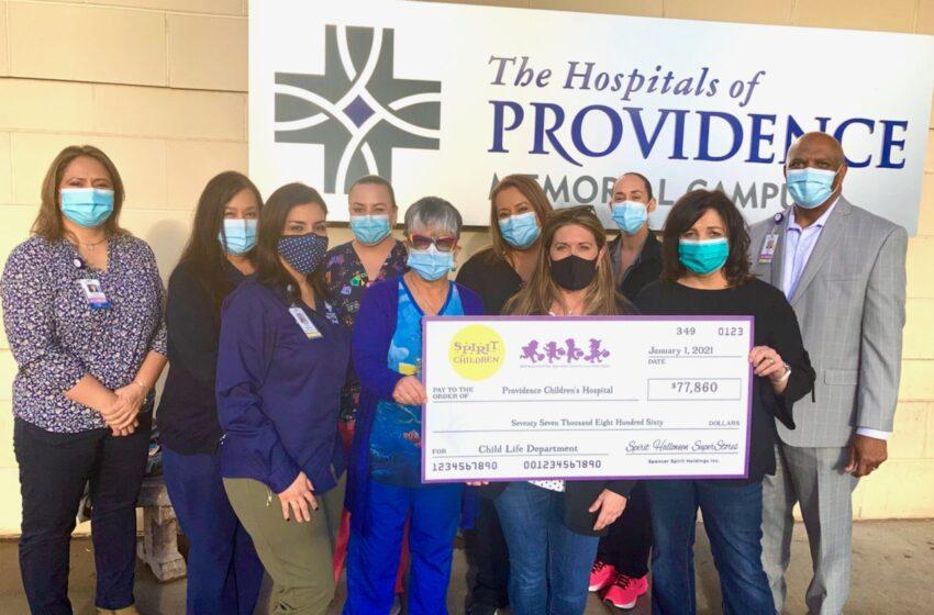 Spirit of Children provides Fun, Funding to Providence Children's Hospital with $77K Donation