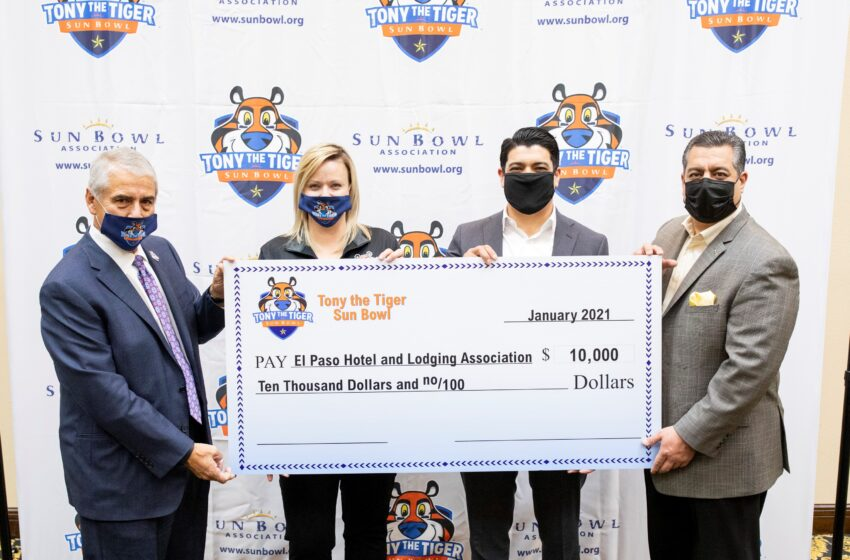 Sun Bowl Association, Tony the Tiger Sun Bowl donate $10k to El Paso Hotel and Lodging Association