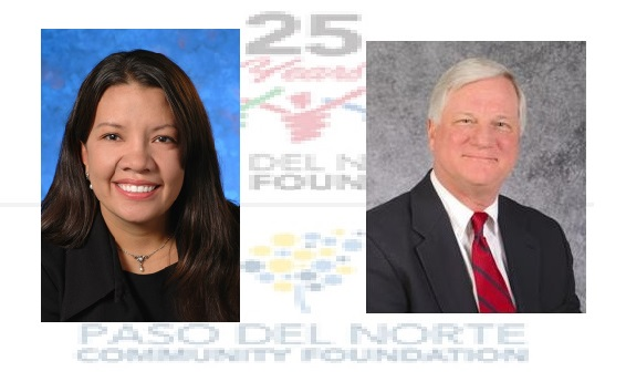 (lf) Lisa Saenz as Chair and (rt) Charles de Wetter as Vice-Chair