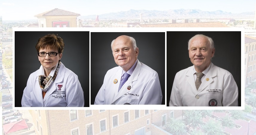 Irene Sarosiek, M.D., Richard McCallum, M.D. and Jerzy Sarosiek M.D.  | Photos courtesy TTUHSC El Paso