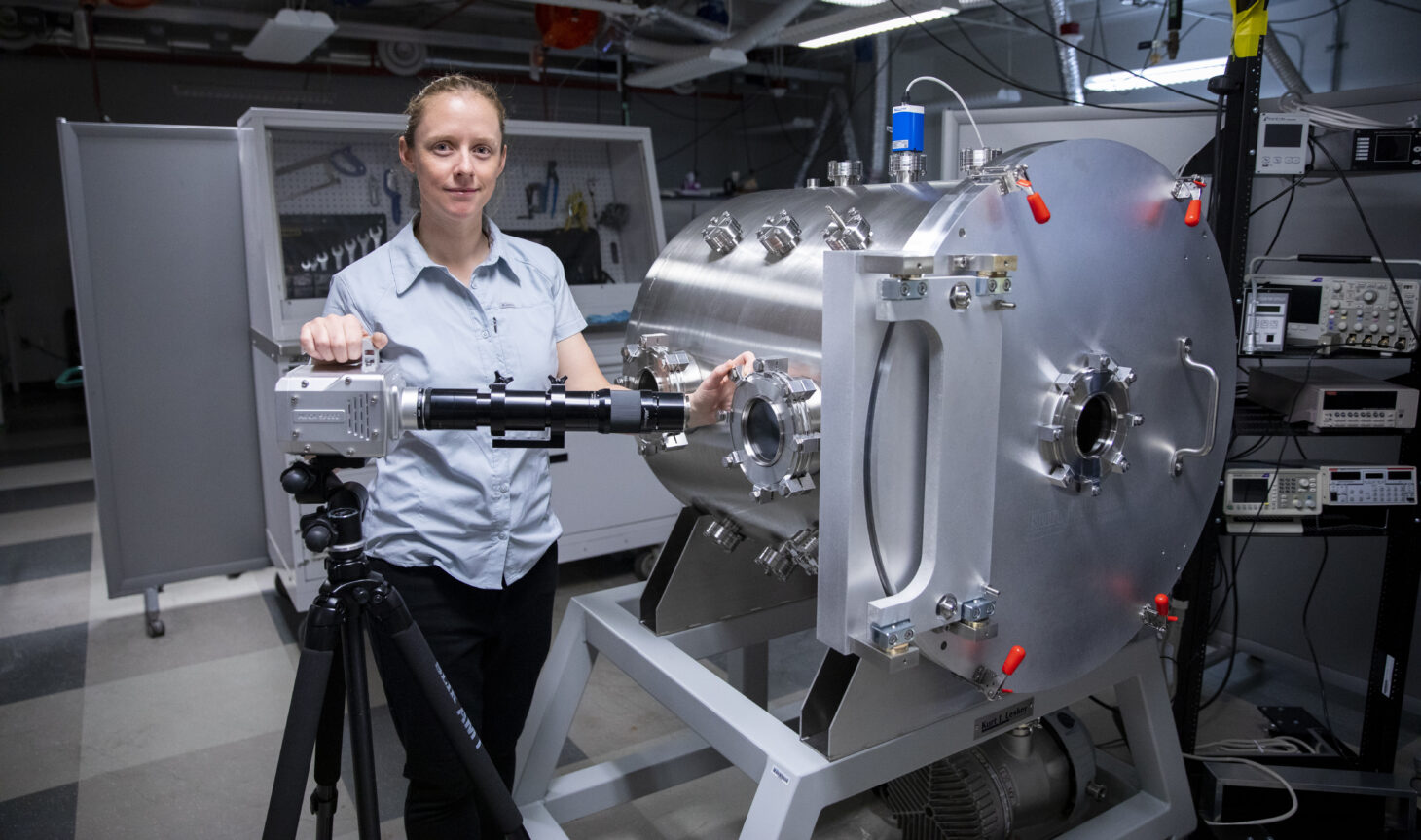 Amelia Greig, Ph.D., assistant professor of mechanical engineering at The University of Texas at El Paso    Photo by Ivan Pierre Aguirre / UTEP Communications