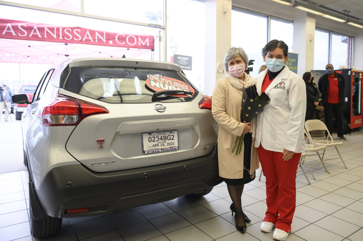 Lopez is the second Hunt School of Nursing student to receive a complimentary one-year lease of a Casa Nissan vehicle. In July 2020, the dealership presented a lease to student Emmanuel Muniz.  | Photo courtesy TTUHSC El Paso