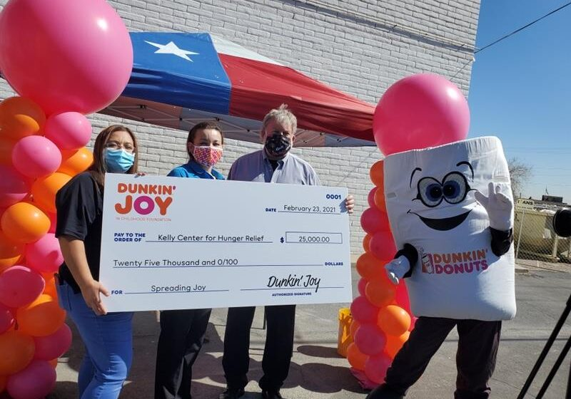 Dunkin' Joy in Childhood Foundation donates $25k to Kelly Center for Hunger Relief