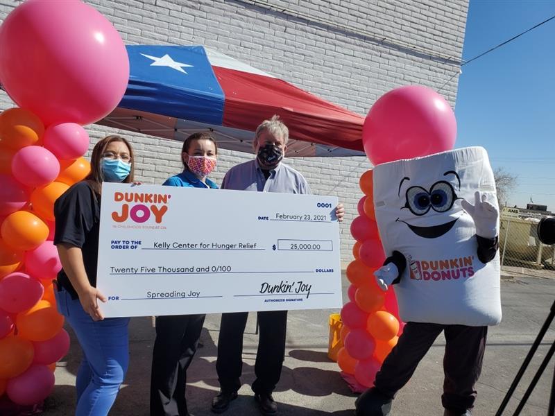Dunkin' Joy in Childhood Foundation Check Presentation