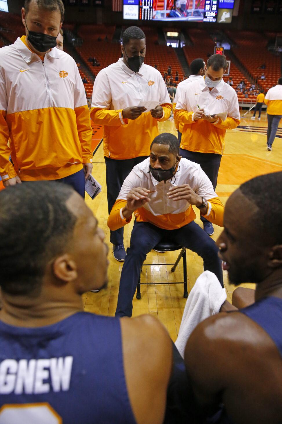 UTEP Men's Basketball Coach Rodney Terry   | Photo by Ruben R. Ramirez – El  Paso Herald Post