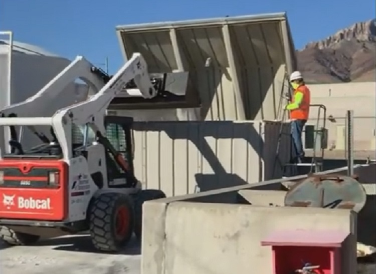 TxDOT crews in El Paso prepare brine solution for application on area roads | Clip courtesy TxDOT