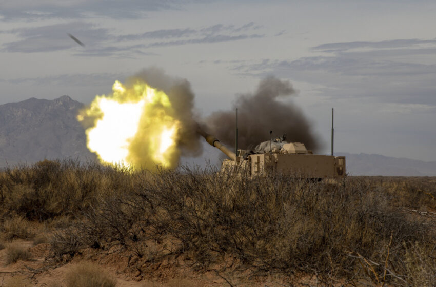 Ahead of rotation to NTC, Field Artillery conducts Live Fire Exercise