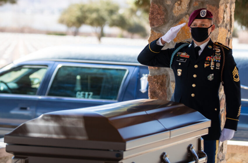All American WWII, four combat jump Veteran Pfc. Harvey Brown laid to rest at Fort Bliss