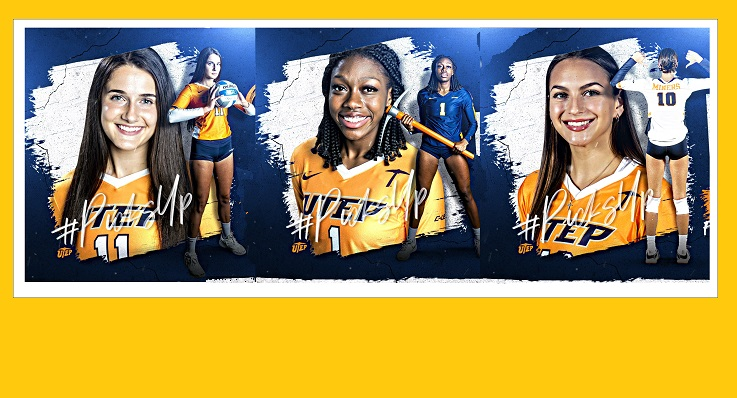 Cheyenne Jones, Serena Patterson and Ava Palm  | Photo courtesy UTEP Athletics