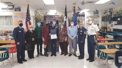 Franklin High cadet receives Air Force JROTC scholarship