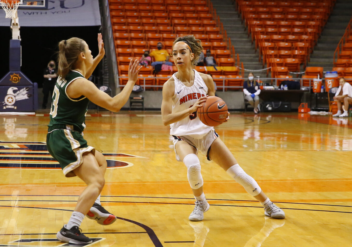 UTEP So. Guard Katia Gallegos  |  Photo by Ruben R. Ramirez/UTEP Athletics
