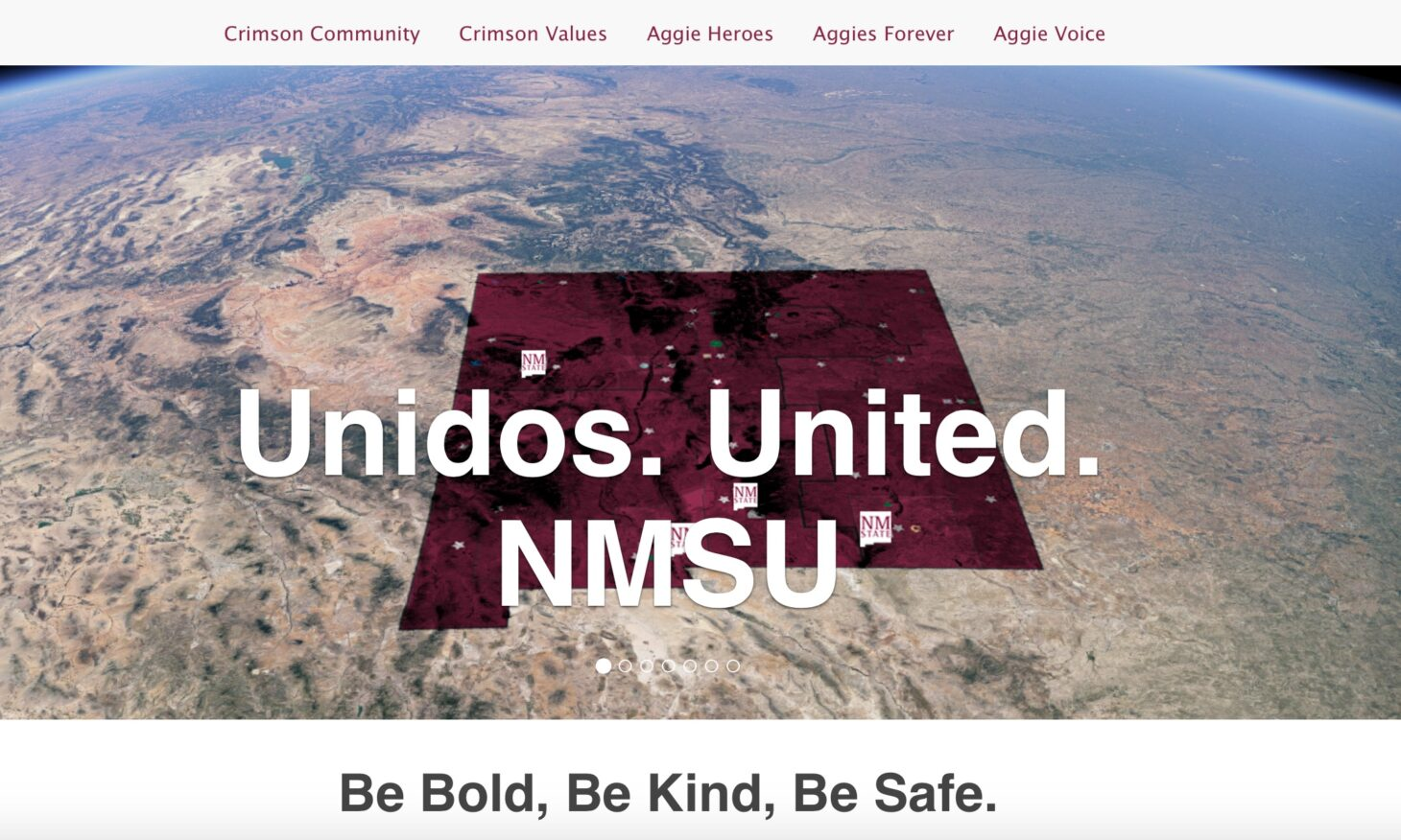 New Mexico State University has launched a new website, Unidos. United., to improve internal communications and to motivate, celebrate and educate the campus community.  |  NMSU photo