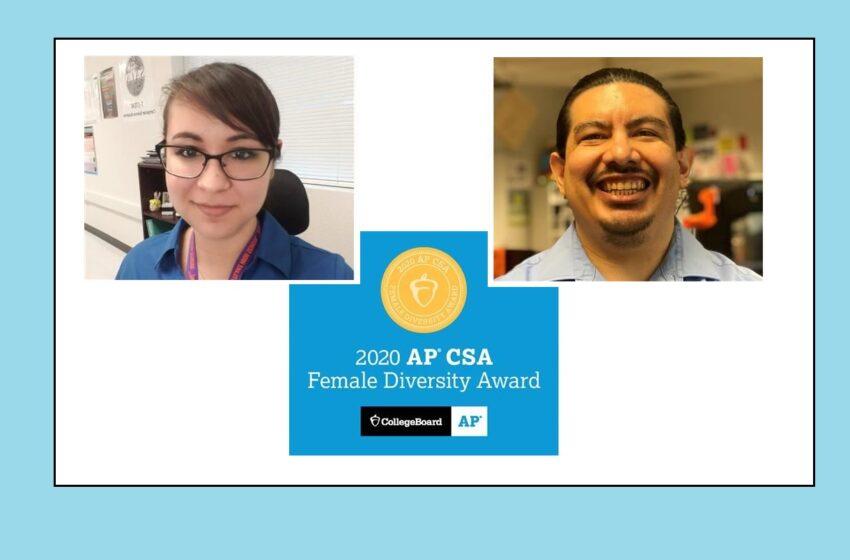 Eastlake, Americas teachers win 2020 AP Computer Science Female Diversity Award