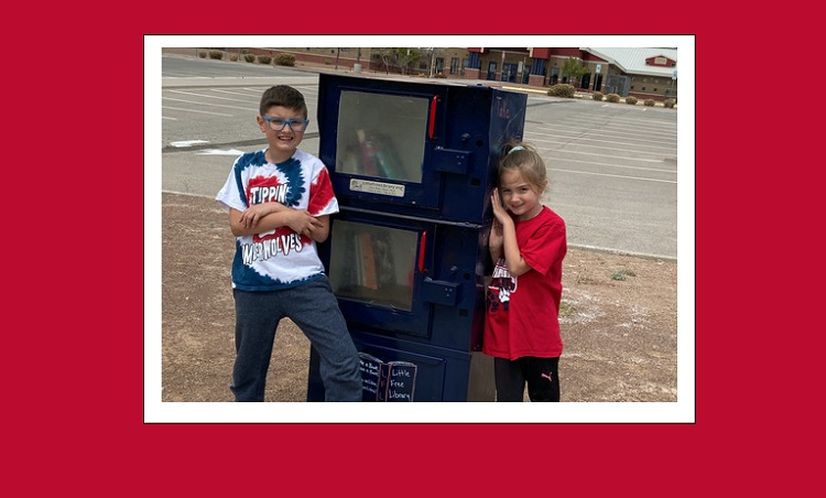 Tippin family installs school's first Little Free Library