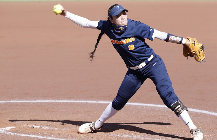 UTEP Softball splits day one with LA Tech; Miners Kelly, Calderon dazzle in the circle