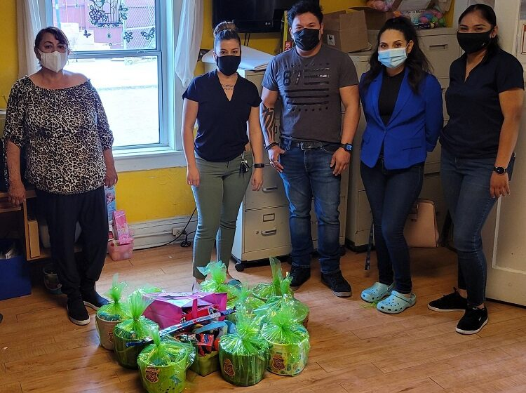 EPCC Criminal Justice club donates baskets to Dame La Mano Pregnant and Battered Women's Shelter