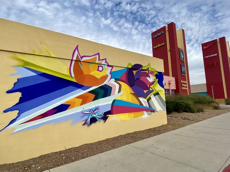 Muralist Christin Apodaca to work on new project at Outlet Shoppes at El Paso this weekend