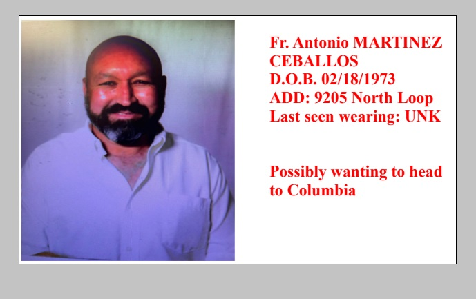 UPDATE: Diocese of El Paso says missing priest found safe