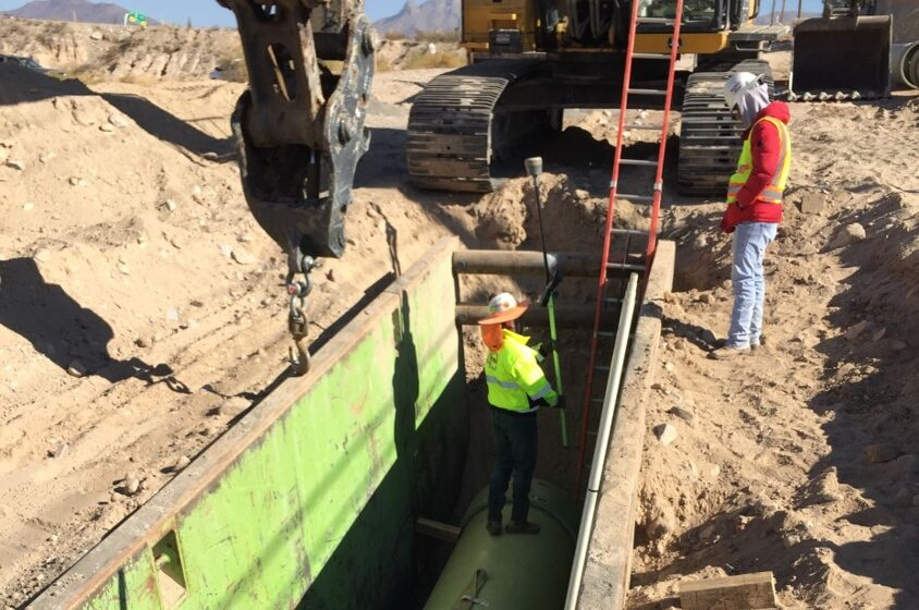 Video+Story: EPWater crews work on new reinforced pipeline for West El Paso