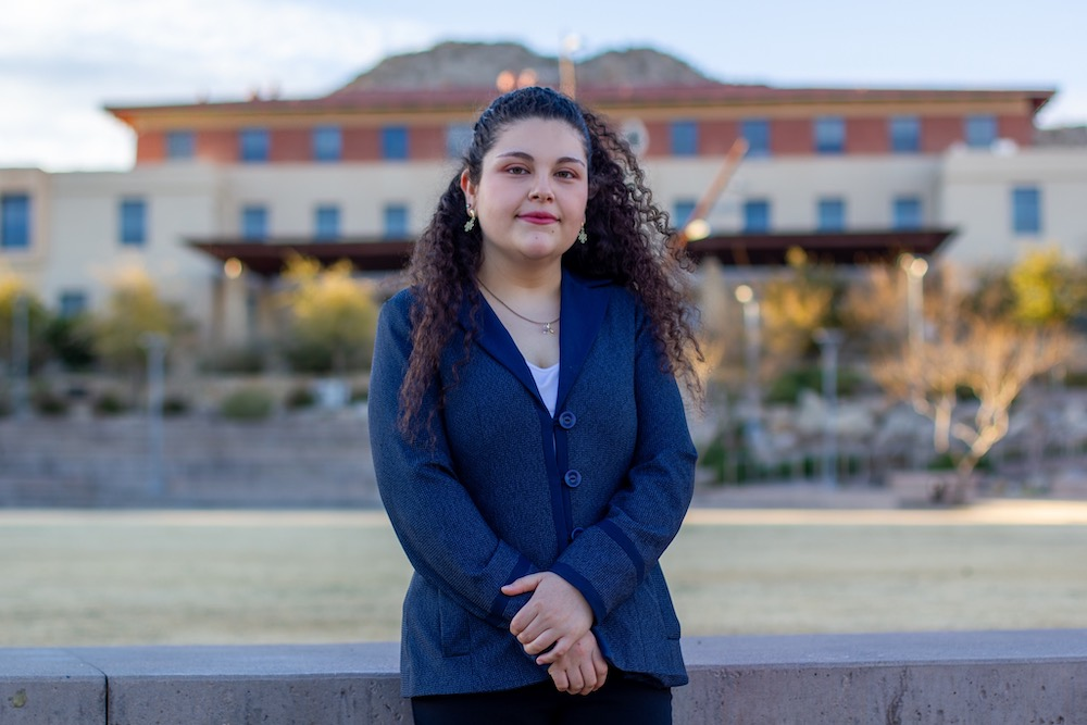 Gina Zavala Alvarado, a senior metallurgical and materials engineering major at The University of Texas at El Paso, is the first Miner to earn the Ellwood Metallurgy Scholarship and internship. Photo: Truman J. Word
