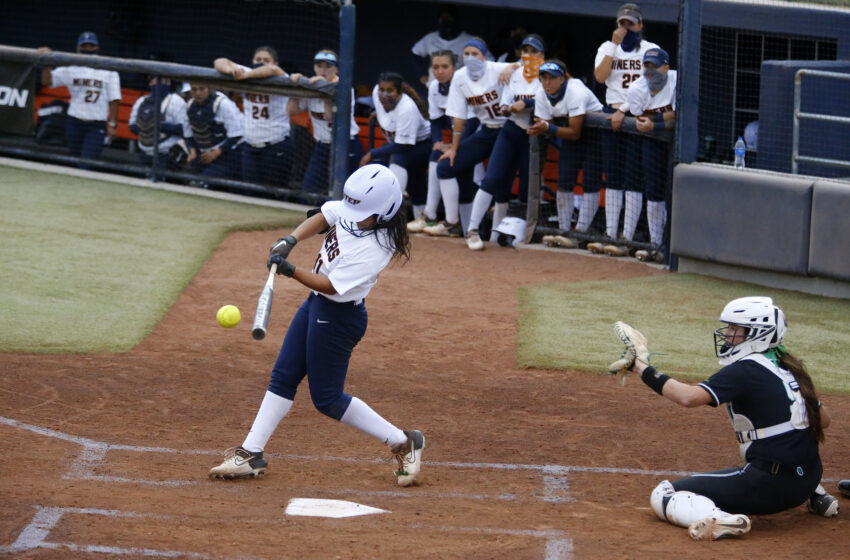 Gallery+Story: North Texas tops Miners in softball series opener 9-1
