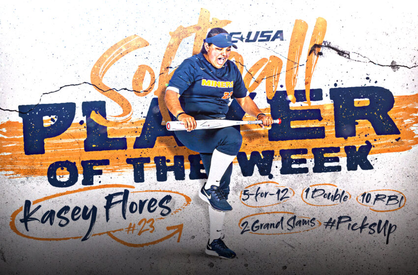 Miner Softball's Kasey Flores named C-USA Player of the Week