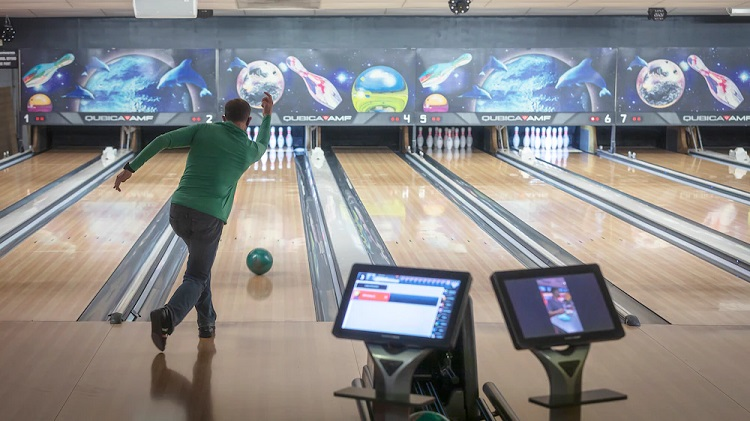 The staff at the 52-lane Desert Strike Lanes Bowling Center at Fort Bliss, Texas, is currently running between eight and 18 percent of lane capacity as part of their efforts to encourage social distancing throughout the facility. | Photo by David Poe