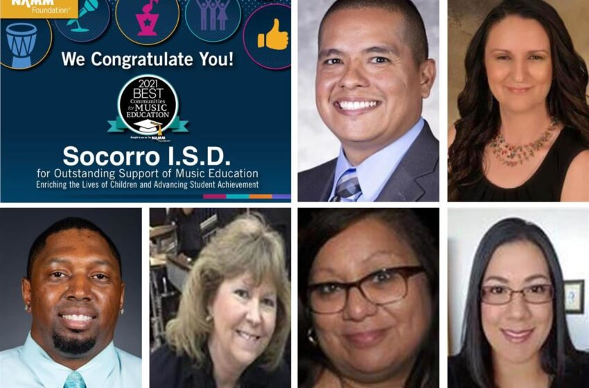 5 in a row! Socorro ISD wins Best Communities for Music Education national award