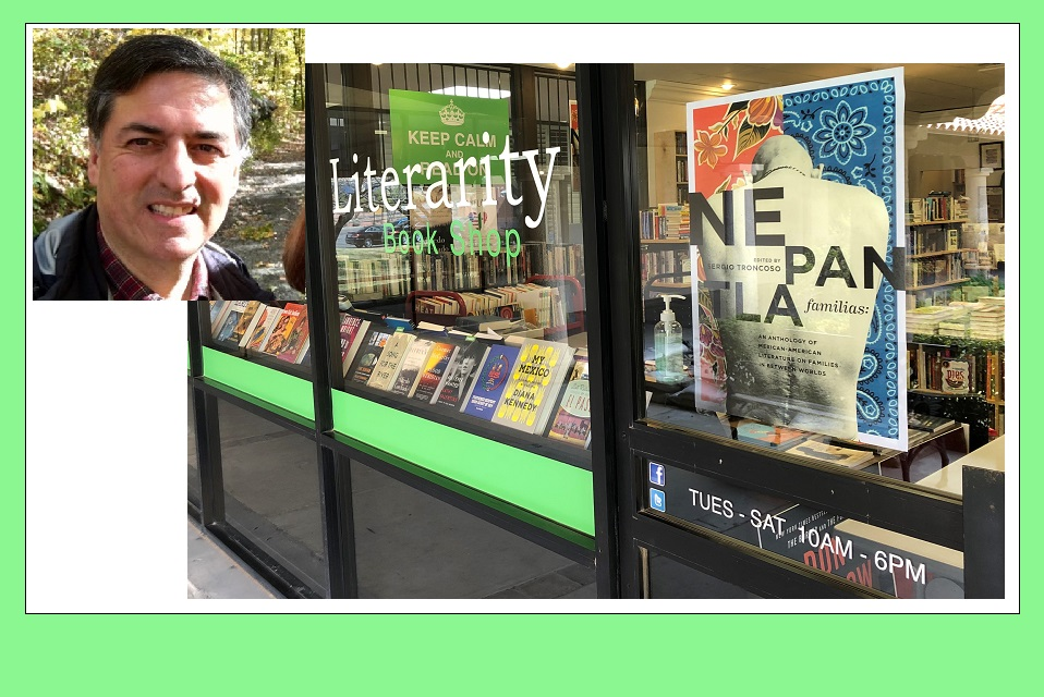 Literarity Book Shop, where Nepantla Familias An Anthology of Mexican American Literature on Families in between Worlds is available  | Photo courtesy Literarity/Texas A&M Twitter