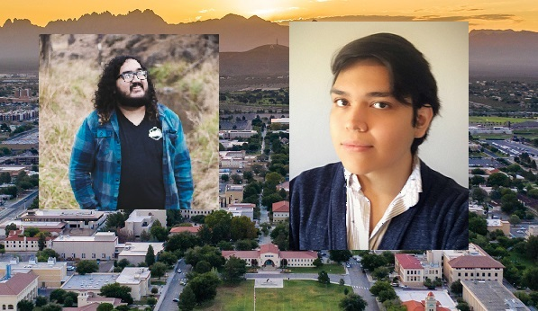 Dominic Vincent, who is graduating from New Mexico State University's Creative Media Institute in May and Brandon Trevizo, who will graduate from New Mexico State University's animation program in the Creative Media Institute in May 2022  | Photo courtesy NMSU