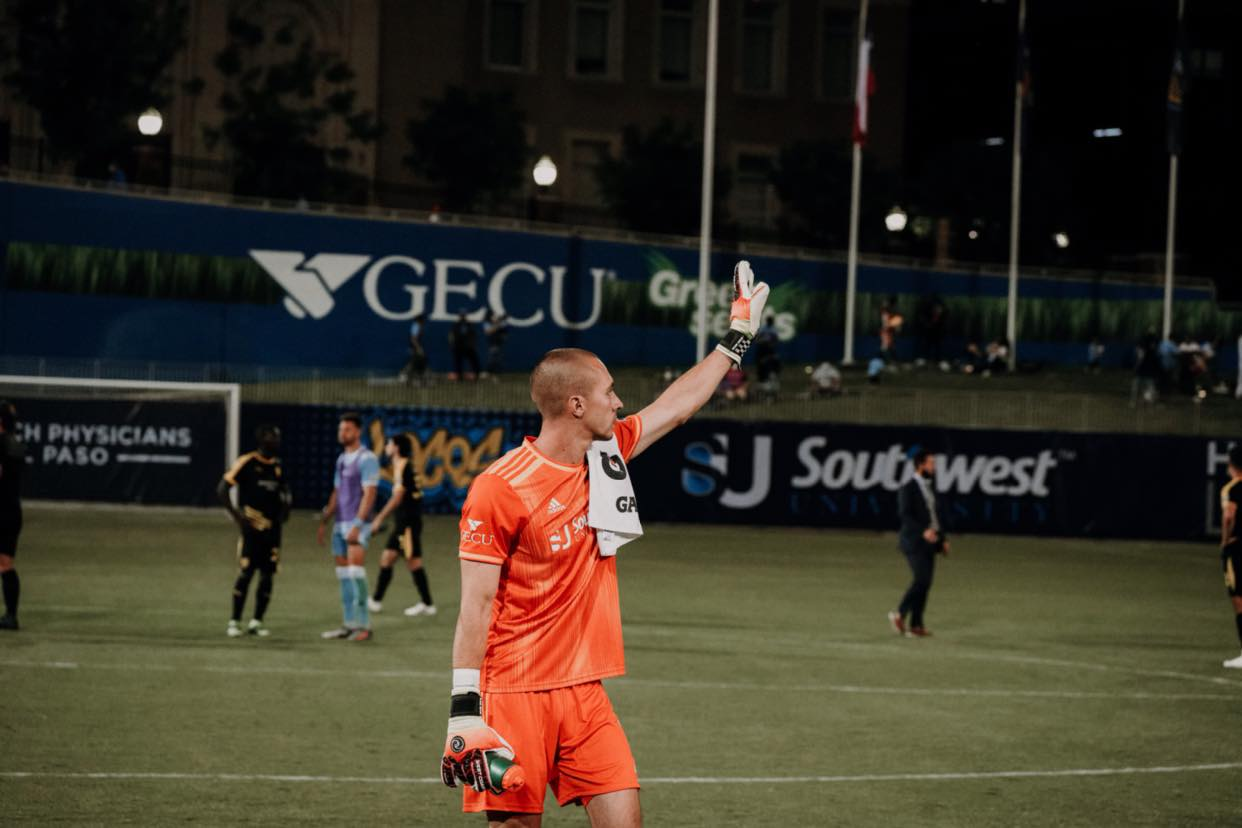 GK Logan Ketter |  Photo courtesy El Paso  Locomotive FC