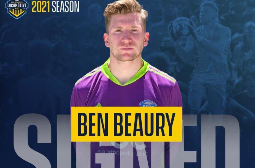 Goalkeeper Ben Beaury hops aboard El Paso Locomotive