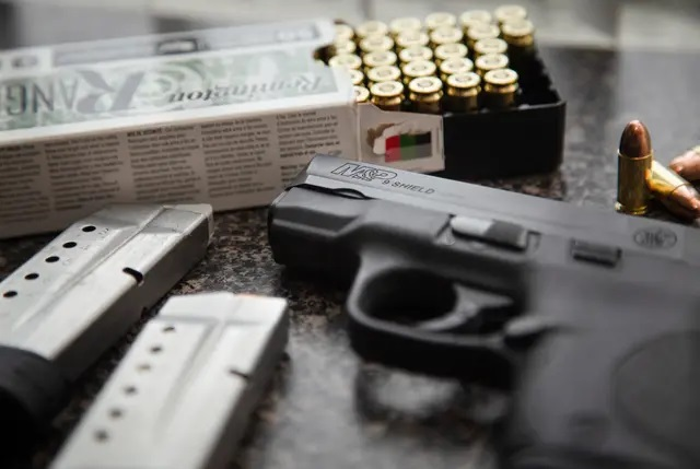 House Bill 1927 would eliminate the requirement for Texas residents to obtain a license to carry handguns if they're not barred by state or federal law from possessing a gun. Credit: Evan L'Roy/The Texas Tribune