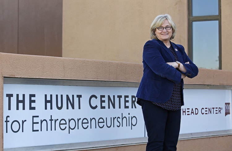 """Kathryn Hansen, director of New Mexico State University's Arrowhead Center, was a recipient of the 2020 """"A"""" Mountain Staff Award.  
