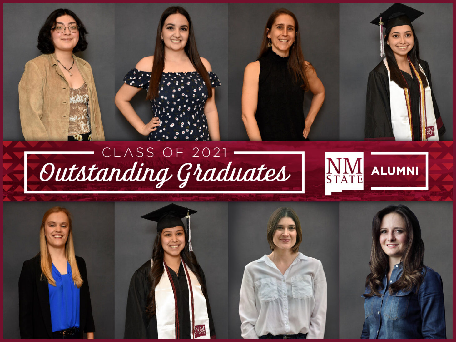 The NMSU Alumni Association recognized the Spring 2021 Outstanding Graduates  | Photo courtesy NMSU