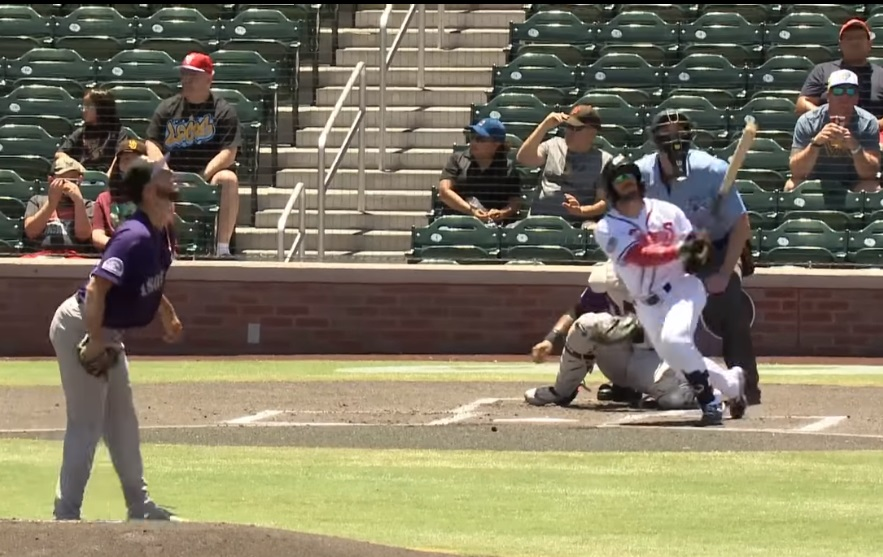Robbie Podorsky's admires his first Triple-A homer, which was also the Chihuahuas' first at home in 2021  | Clip Courtesy EP Chihuahuas